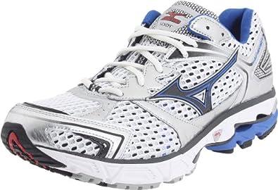 Mizuno Men's Wave Inspire 7 Running Shoe,White/Turkish Sea-Anthracite,7.5 M US