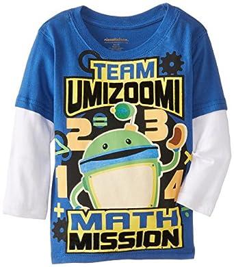 Nickelodeon Little Boys' Umi Zoomi Math Mission Long Sleeve Tee, Blue, 2T
