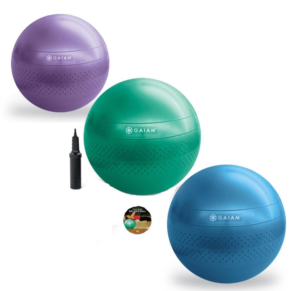 New Gaiam Total Body Balance Ball Kit
