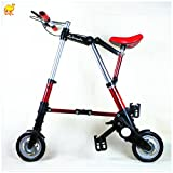 8'' Folding Mini Bike Foldable Bicycle Travel Bicycle City Town Bicycle