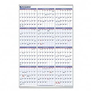 AT-A-GLANCE Recycled Yearly Wall Calendar, Large Wall, 2013 (PM12-28)