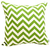 Majestic Home Goods Sage Zig Zag Pillow, Large
