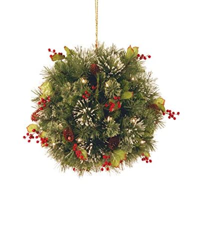 "National Tree Company 16"" Wintry Pine Collection Kissing Ball"