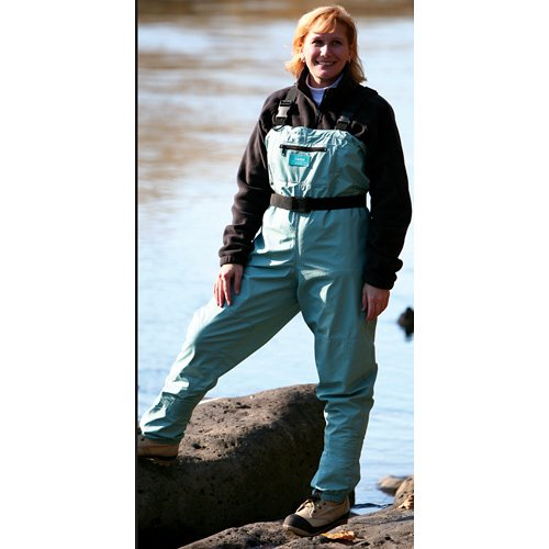 Caddis Wading Systems Caddis Women's Attractive Teal Deluxe Breathable Stocking Foot Chest Wader, Small