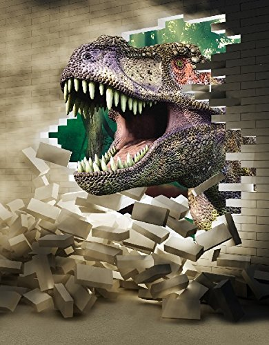 6.5 Ft*5 Ft (200cm*150cm) Fundo Terror Mouth Poqiang Dinosaur 3D Photography Backdrops Baby Photo Studio Backgrounds LK-003