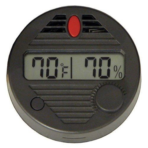 Quality Importers HygroSet II Round Digital Hygrometer for Humidors