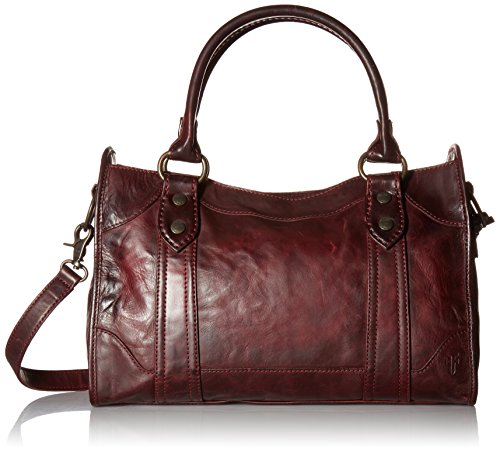 FRYE-Melissa-Satchel-Handbag-Wine-One-Size