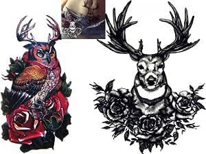 Amazon.com: Novoskins Tattoo Artist Temporary Tattoo hand