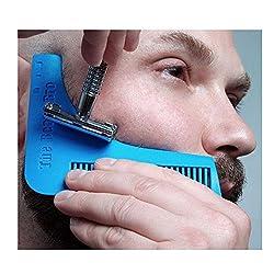 New 1PCS Beard Bro Beard Shaping Tool Gentleman Sex Man Beard Trim Template Hair Cut Molding Trim Template Beard Modelling KC1383
