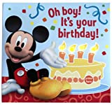 Mickey Mouse Kids Birthday Greeting Card with Lights