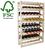 #8: Wine Rack Wooden Shelf Bottle Shelf for 56 Bottles in Nature