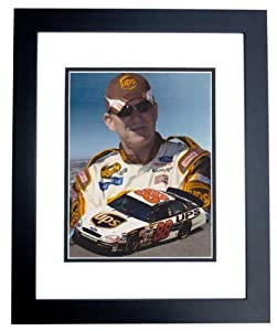 Dale Jarrett Unsigned UPS Racing 8x10 inch Photo - BLACK CUSTOM FRAME by Real Deal Memorabilia