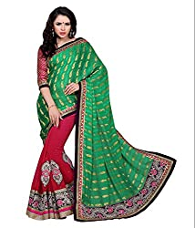 silvermoon women's chiffon embroidered free size fancy saree-sm_NMTHA110_green_free size