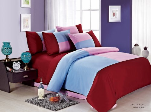 Red Blue And Pink Teen Bedding Kids Bedding front-700700