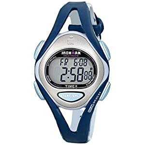 Timex Women's T5K451 Ironman Sleek 50-Lap Blue Watch