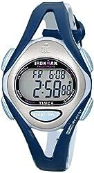 Timex Women's T5K451 Ironman Sleek 50-Lap Blue Resin Strap Watch