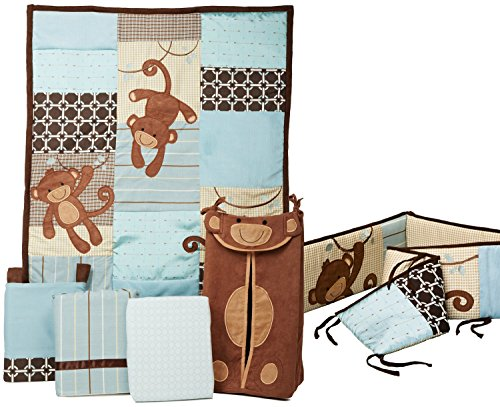 Lambs & Ivy Crib Bedding Set And Bumper (Giggles) front-1002291