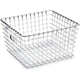 Spectrum Diversified 47970 Storage Basket, Medium, Chrome