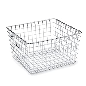 Amazon.com - Spectrum 47970 Medium Storage Basket, Chrome -