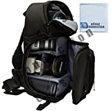 Deluxe Digital Camera/Video Sling Style Shoulder Bag For Canon, Nikon D300, D300S, D3000, D3100, D3200, D3300, D5000, D5100, D5200, D5300 & More... + Microfiber Cloth