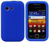 New Design Silicone Case Cover Skin for Samsung Galaxy Y S5360 - Light Blue