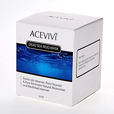 ACEVIVI Natural Dead Sea Mud Facial Mask - Anti-Ageing Treatment For All Skin Types - For Women, Men and Teens - Effective Relief From Acne, Blackheads & Spot Prone Skin - Organic Mud Mask Offers Gentle Facial Exfoliator - Natural Moisturizer and Deep Cle