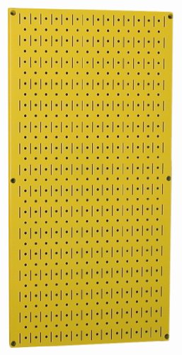 Wall Control Pegboard 32In X 16In Yellow Metal Pegboard Tool Board Panel