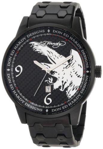 Ed Hardy men's ST2-BK Stellar II Black Watch
