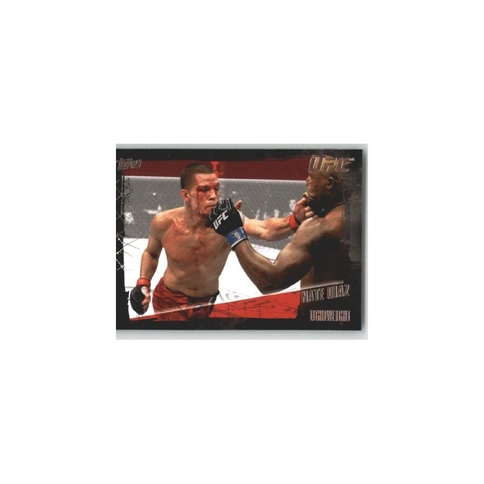 2010 Topps UFC Trading Card # 51 Nate Diaz (Ultimate Fighting Championship) Shipped in Screwdown Case