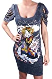 ED HARDY Christian Audigier Rock Oasis Womens Dress Black Size L