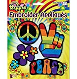 Hippy Flower Power Fancy Dress Embroidery Patches