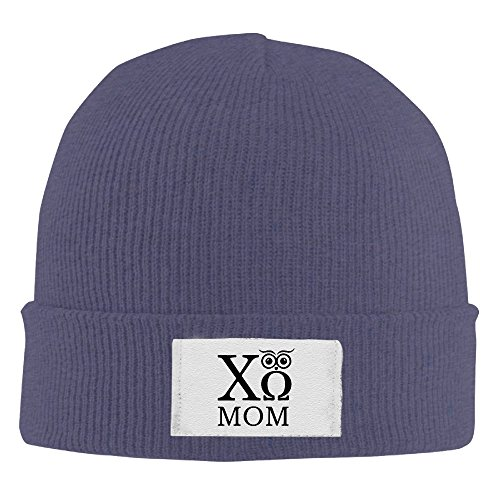 Chi Omega Owl Mom Stretchy Kint Slouchy Hat Beanies Cap Navy (Chi Omega Watch compare prices)