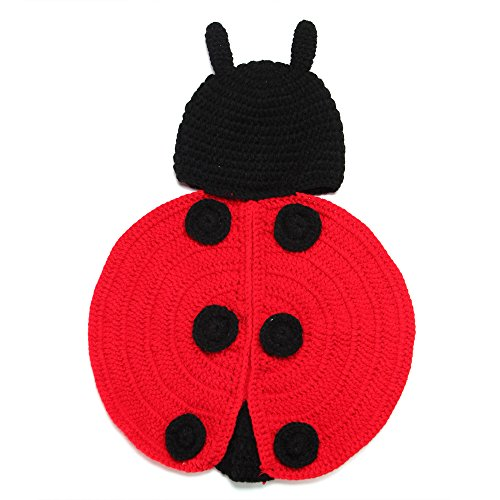 Elee Baby Spot Ladybird Costume Set Crochet Knit Outfit Photo Props 3-18 Months