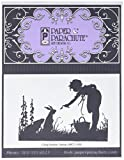 Paper Parachute UMCS1005 Girl with Bunny Cling Rubber Stamps, 3.5