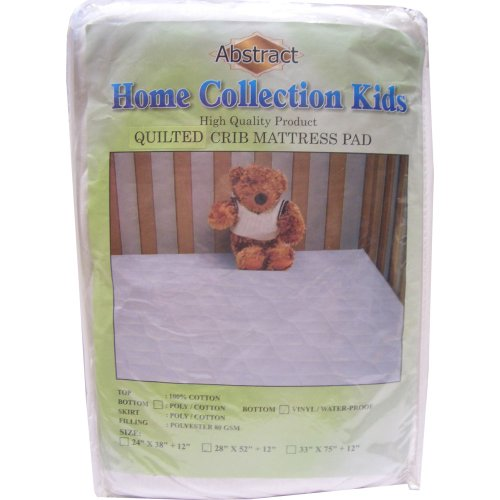 Abstract Home Collection Waterproof Quilted Crib Mattress Pad 28x52 - 1