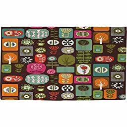 Trees and Flowers Rug, 22.5\