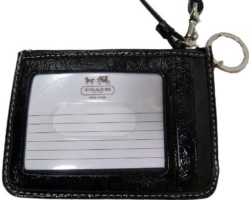 Coach  Coach Signature Stripe ID Skinny Black White Black F47665
