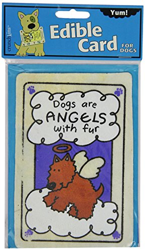 Crunchkins Edible Crunch Card, Dogs Are Angels with Fur