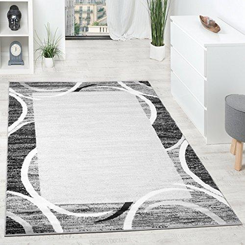 living-room-rug-designer-border-flecked-grey-black-cream-unbeatable-deal-size120x170-cm