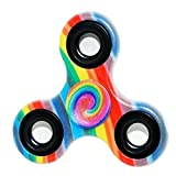 #6: Premsons Fidget Tri-Spinner Printed 608 Four Bearing Ultra Speed Hand Spin Toy