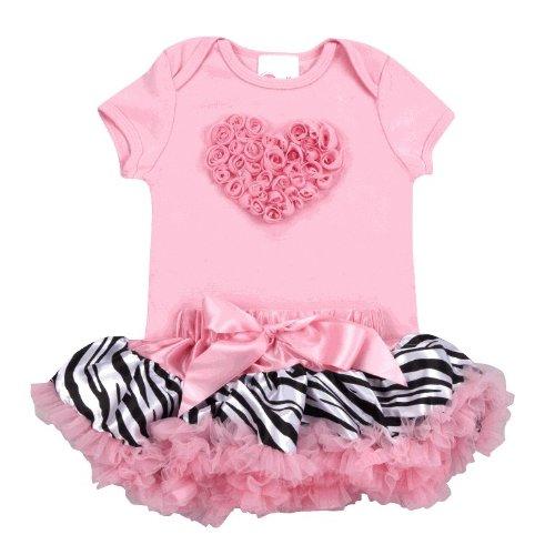 Lollipop Moon Pink Zebra Love Tutu Set front-848310