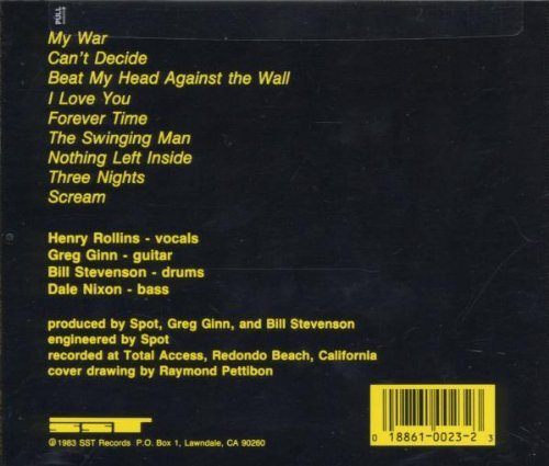 Original album cover of My War by Black Flag