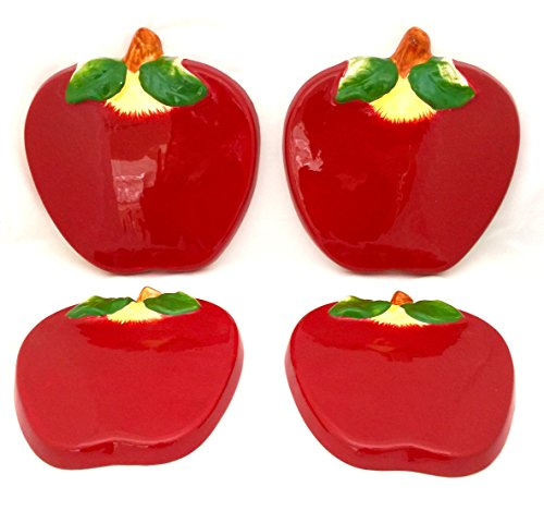 Red Apple Stove Cover Set
