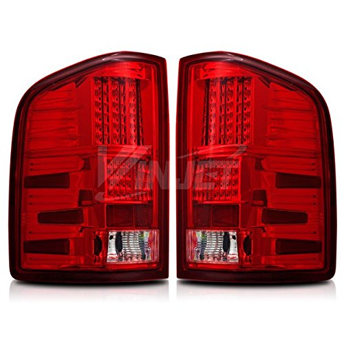 Starr Lite 07-13 Chevy Silverado Led Tail Lights - (Chrome / Red)