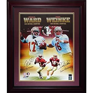 Charlie?Ward?and Chris?Weinke Autographed FSU Florida State Seminoles (Collage)... by PalmBeachAutographs.com