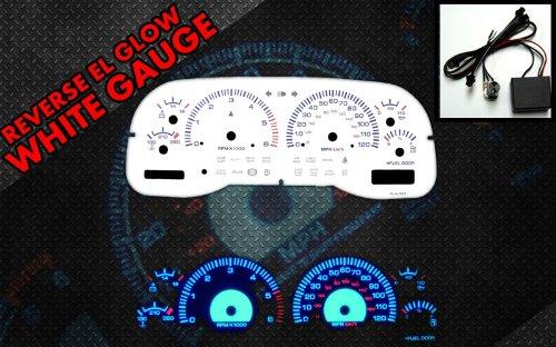 Brand New White Face Blue Indigo Reverse Glow Gauges For 97-00 Dodge Dakota/Durango (I-254)