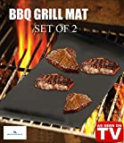 ★BBQ GRILL MAT, SPECIAL SET OF 2 HEAVY DUTY BBQ GRILL MAT-100% Non Stick-Thick Mats, Perfect for OUTDOOR and INDOOR cooking-Leaves Perfect Grill Marks **Make Grilling Easier**Perfect for Gas, Charcoal & Electric Grills-FDA Certified and LFGB Approved -Dishwasher safe**LIFELONG GUARANTEE**As Seen On TV**PRICE WILL GO UP SOON! Dont mis this opportunity!