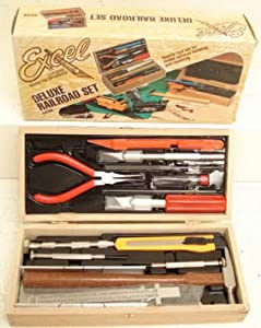 Excel Deluxe Model Railroad Tool Set by Excel Hobby Blade Corporation