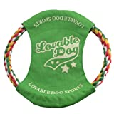 DogLoveIt Rope Frisbee Toy for Dogs