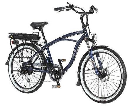 EG Oahu 500 EX Beach Cruiser Electric Bicycle - Blue